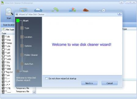 Wise Disk Cleaner Professional Screenshot