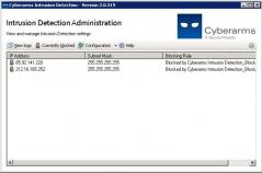 Cyberarms Intrusion Detection Screenshot