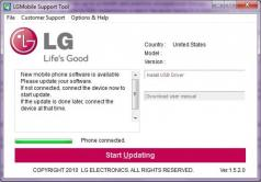 LG Mobile Support Tool Screenshot
