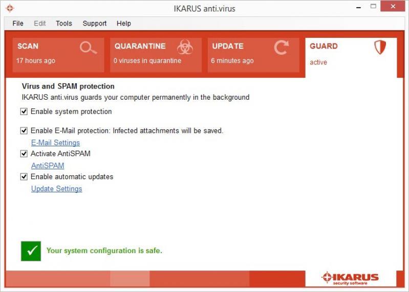 Ikarus anti. Virus 2. 16. 25 download filecluster.