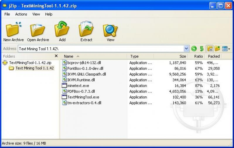 jZip Screenshots - BytesIn