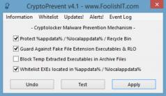 CryptoPrevent Screenshot