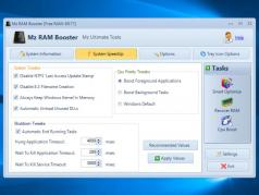 Mz RAM Booster Screenshot