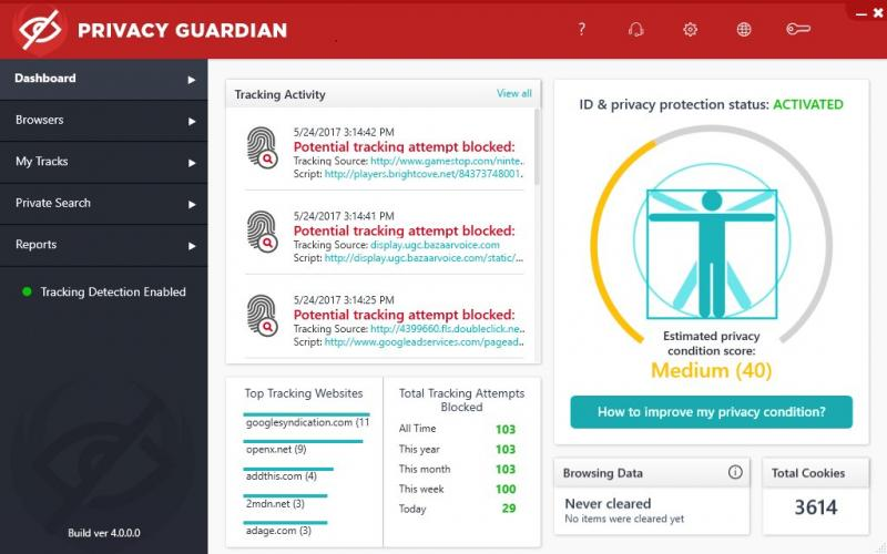 Image result for privacy guardian screen shots
