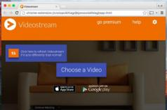 Videostream for Google Chromecast Screenshot