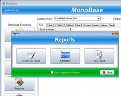 SSuite MonoBase Database Screenshot