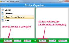 SSuite Recipe Organiser Database Screenshot