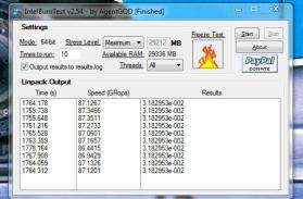 IntelBurnTest Screenshot