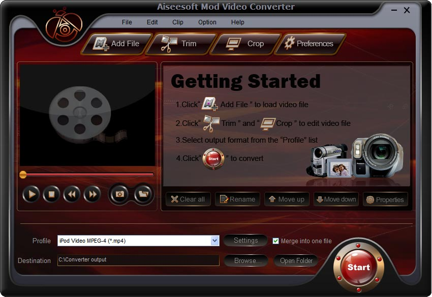 Aiseesoft Mod Video Converter Screenshot