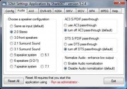 Advanced Codecs for Windows 7 / 8 / 10 Screenshot