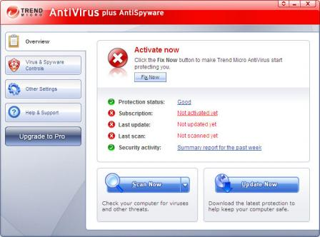 Trend Micro Virus Pattern File Screenshot