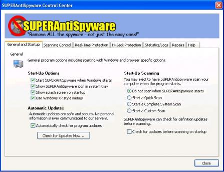 SUPERAntiSpyware Database Definitions Update screenshot