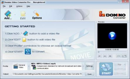 Domino Video Converter Pro Screenshot