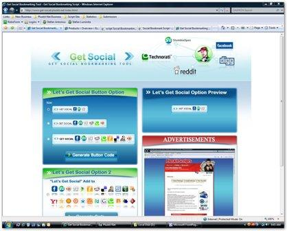Script Social Bookmarking Screenshot