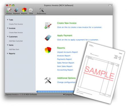 Express Invoice for Mac Screenshot