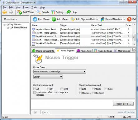ClickyMouse Professional Edition Screenshot