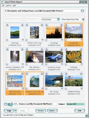 Smart Photo Import Screenshot
