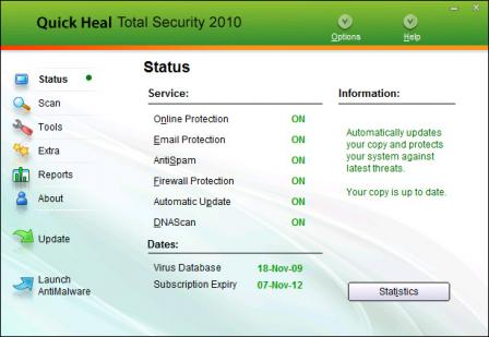 Quick Heal Total Security 2011 Screenshot