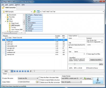 Magic MIDI to MP3 Converter Screenshot