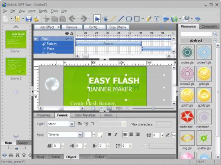 Flash Banner Creator - Web Banner erstellen Screenshot