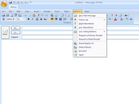 Classic Menu for Outlook 2007 Screenshot
