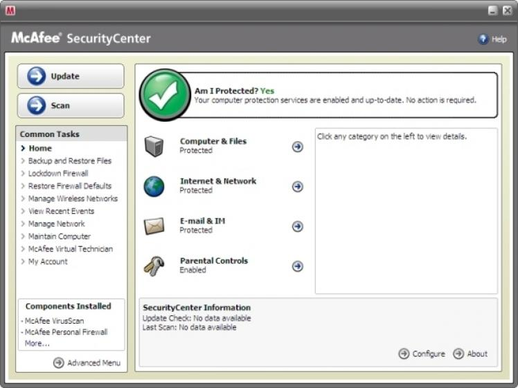 Download free software mcafee update 8. 5i free dat file.
