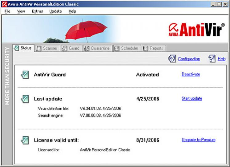 Avira Antivir Virus Definition File Update screenshot