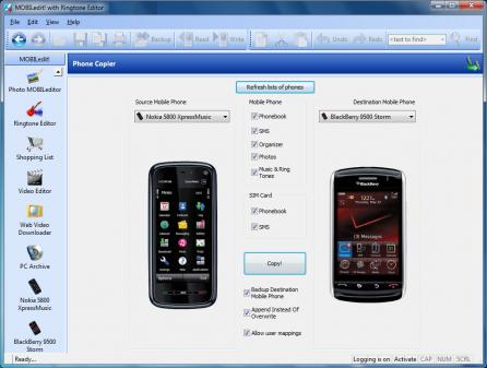 MOBILedit Screenshot