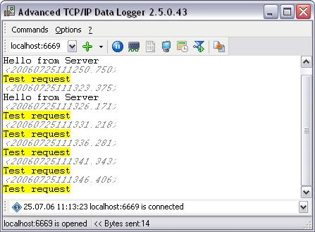 Advanced TCP IP Data Logger Screenshot