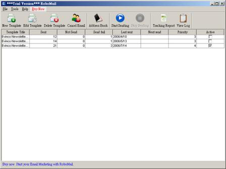 RoboMail Mass Mail Software screenshot