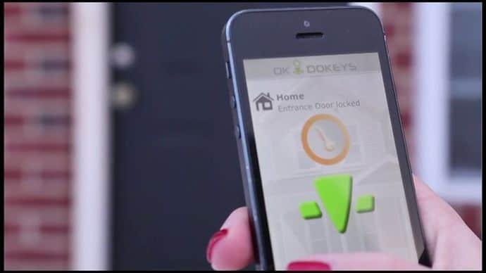yes you can finally give up the heavy sets of keys and use your smartphone to lock and open your home door the openways group has been in the business of