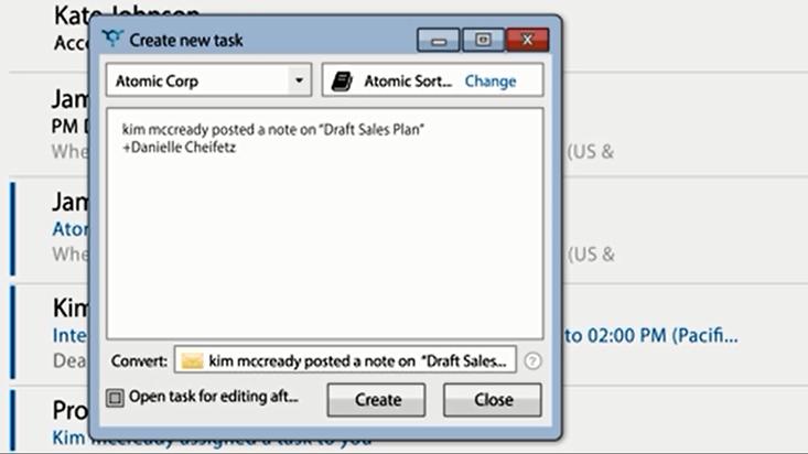 Producteev Outlook plug-in