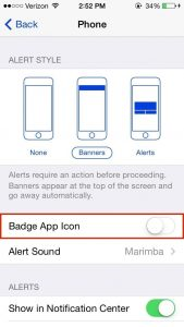 Badge App Icon Turn Off