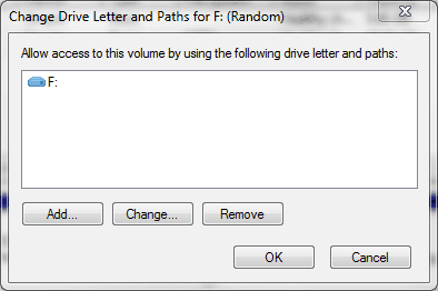 USB Drive Change Letter And Paths