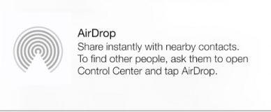 AirDrop Menu