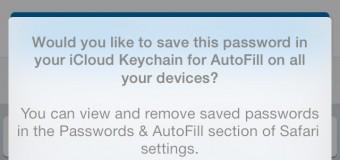 iCloud Keychain Save Password