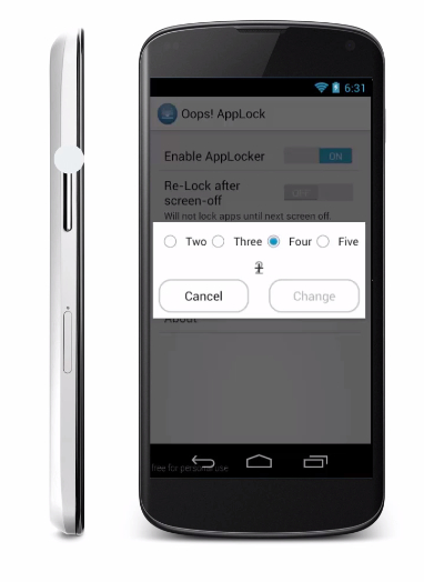 Oops! AppLock for Android lets you lock your apps in a fun way