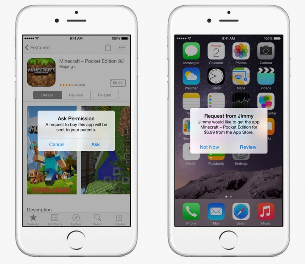 iOS 8 Family Sharing Parental Controls