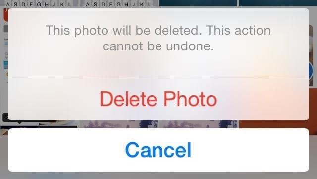 iOS Delete Photo