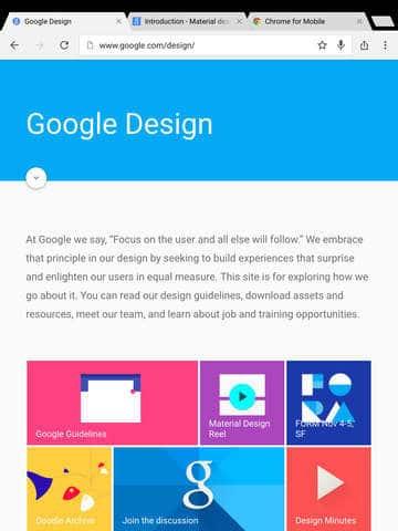 Chrome for iOS received Material Design, support for Handoff