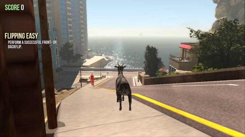Big Update for \'Goat Simulator\' in Goat City Bay