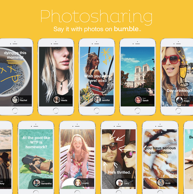 Dating app Bumble introduces photo messaging