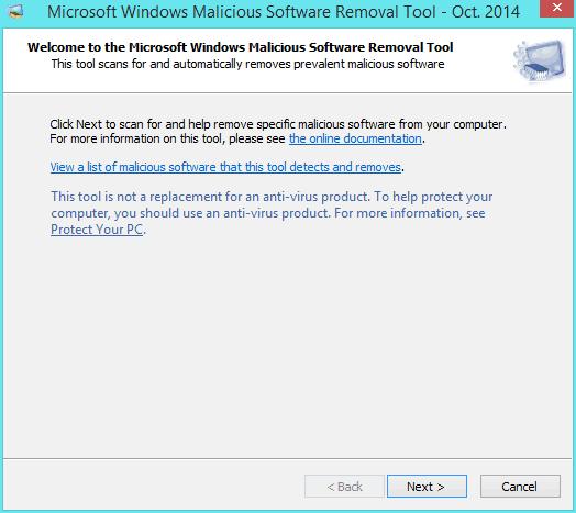 Microsoft Malicious Software Removal Tool: Remove prevalent