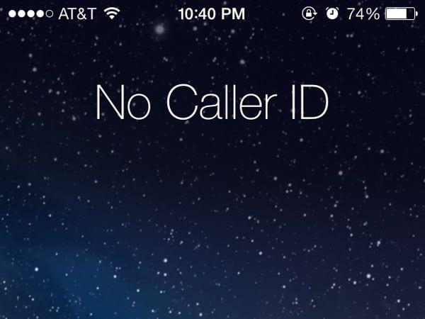 No Caller ID