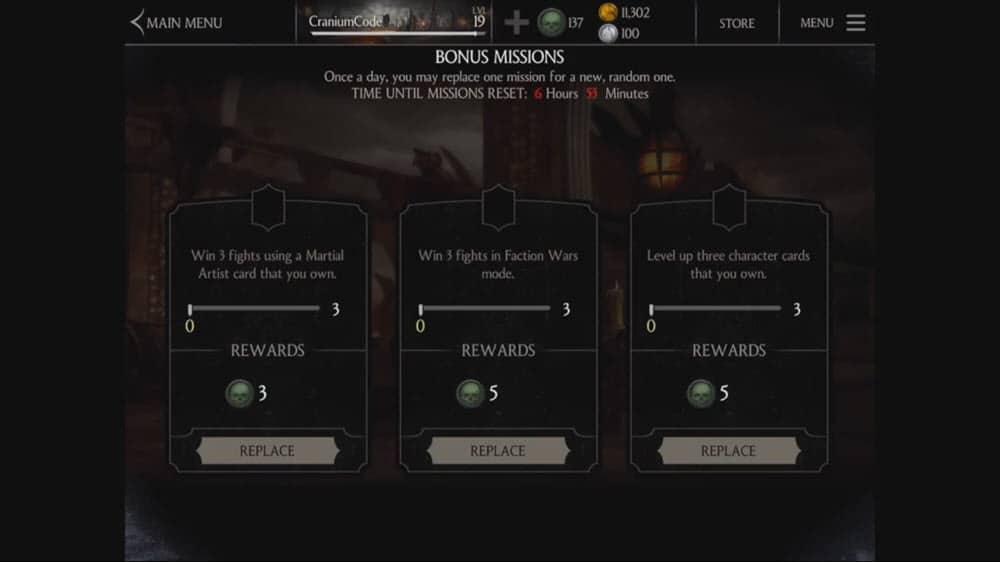 Mortal Kombat X - Bonus missions
