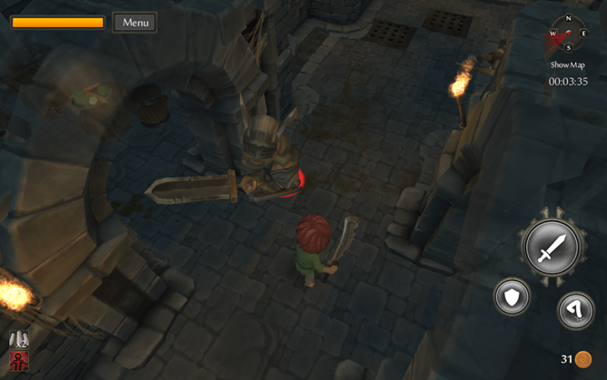 TinyKeep is an Android 3D roguelike dungeon crawler with