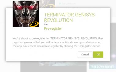 Terminator Genisys Revolution Pre-register