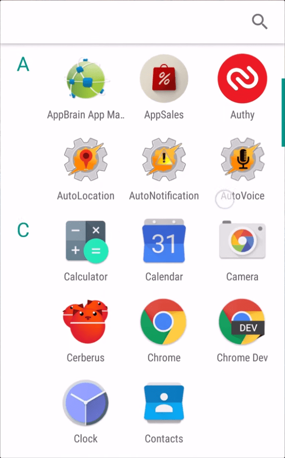Android M - App Drawer
