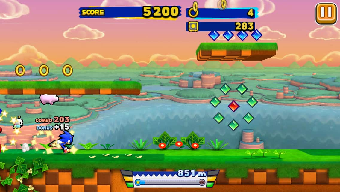 Sonic Runners Gameplay 1