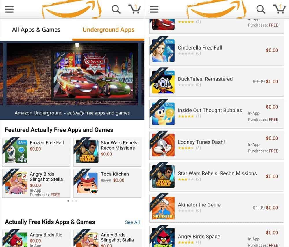 amazon app underground